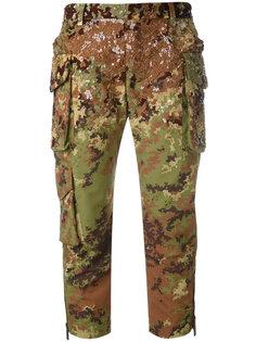 укороченные брюки с пайетками  Dsquared2