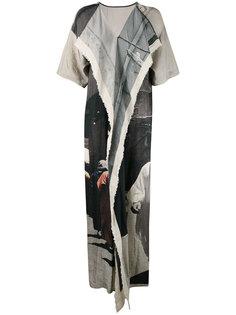 платье лоскутного кроя с вышивкой Uma Wang