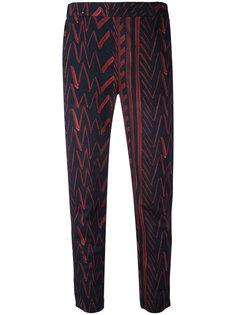 брюки с принтом Palmiro Diega