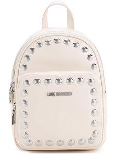 рюкзак с заклепками и логотипом Love Moschino