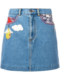 джинсовая мини-юбка Marc Jacobs