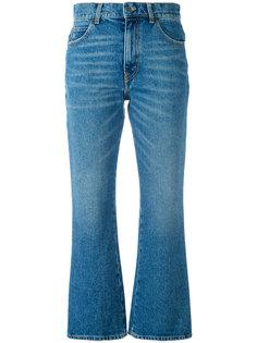 укороченные джинсы с клешем ниже колена Attico