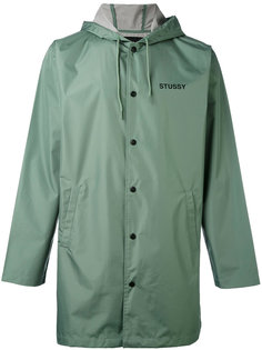однобортное пальто Stussy