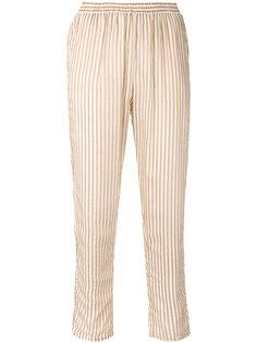 полосатые зауженные брюки  Mes Demoiselles