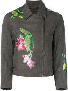 байкерская куртка с цветочным рисунком Blumarine