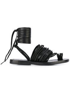 сандалии с завязками вокруг щиколотки Dimissianos & Miller