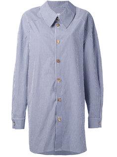 полосатая рубашка с запахом A.W.A.K.E. Awake