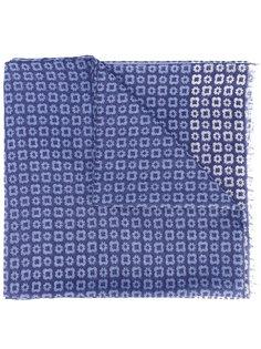 шарф с мелким принтом Corneliani