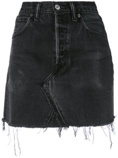 джинсовая юбка с бахромой Re/Done