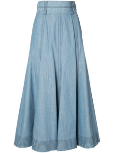 flared chambray skirt Gabriela Hearst
