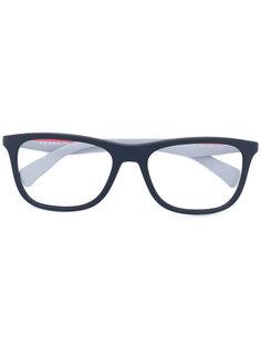 очки в прямоугольной оправе Prada Eyewear
