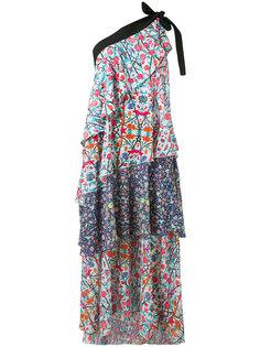 асимметричное платье с оборками Miahatami