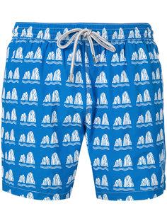 stone print swim shorts Capricode