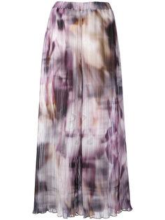 широкие брюки с абстрактным принтом Ermanno Gallamini
