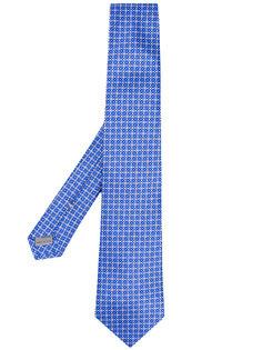 галстук с узором из геометризированных цветов Canali