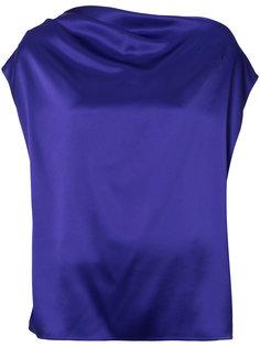блуза на одно плечо с открытой спинкой Lanvin