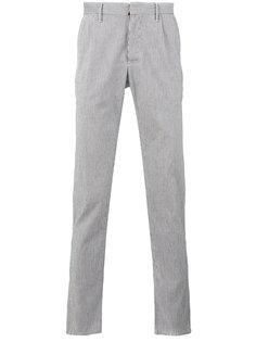 зауженные брюки в полоску Incotex