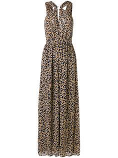 вечернее платье с леопардовым принтом Michael Kors