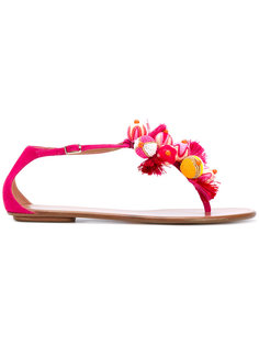 сандалии с вышивкой Aquazzura