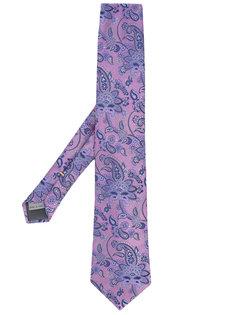 галстук с цветочным принтом Canali