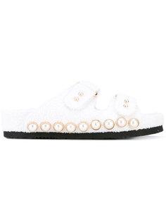 сандалии с перламутровыми бусинами Suecomma Bonnie