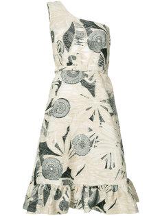 patterned one-shoulder dress Co