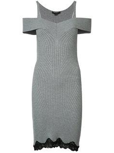 вязаное платье с открытыми плечами Alexander Wang