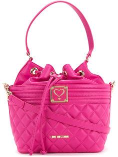 стеганая сумка на плечо со шнуровкой  Love Moschino