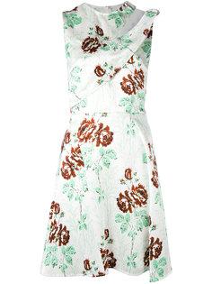 платье шифт с цветочным принтом Victoria Beckham