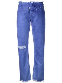 зауженные джинсы с контрастной вставкой Alyx