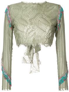 укороченная кружевная блузка Baja East