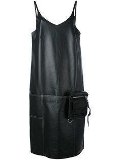 кожаное платье шифт с V-образным вырезом Alyx