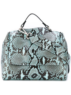 snake print shoulder bag  Orciani