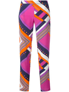брюки с геометрическим рисунком Roseanna