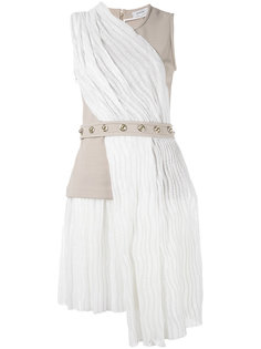 платье с контрастными панелями и поясом Carven