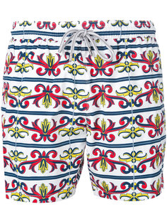 baroque print swim shorts Capricode