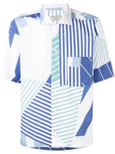 рубашка с абстрактным рисунком Maison Kitsuné