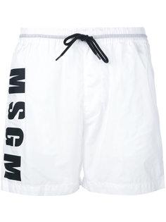 шорты для плавания с логотипом MSGM