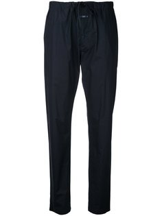 tapered drawstring trousers Closed