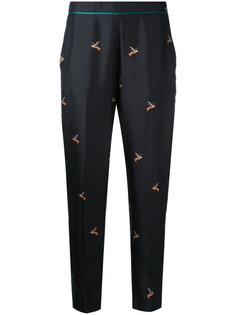 костюмные брюки с рисунком Victoria Victoria Beckham
