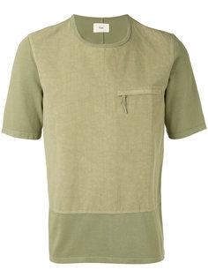футболка с карманом на молнии Folk