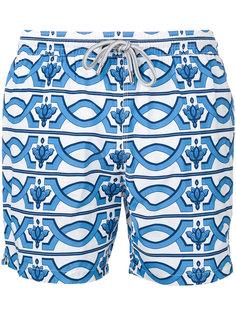 geometric print swim shorts Capricode