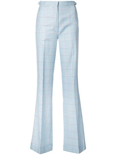 checked flared trousers Gabriela Hearst