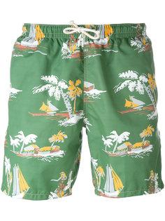 шорты для плавания с тропическим принтом Drumohr