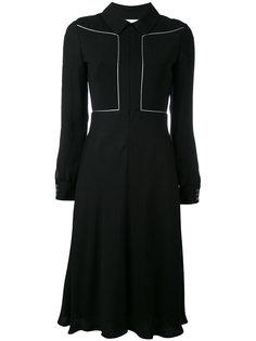 струящееся платье с длинными рукавами Courrèges