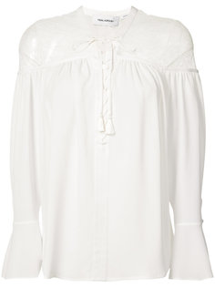 lace-up blouse Yigal Azrouel