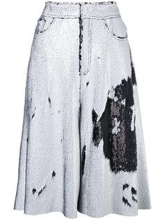 широкие шорты с отделкой пайетками Marquesalmeida