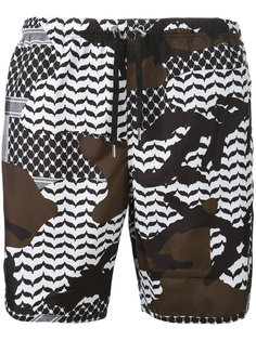 камуфляжные шорты для плавания Neil Barrett