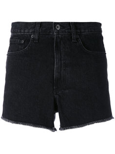 high-rise frayed denim shorts Rag & Bone /Jean