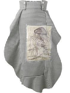 асимметричная юбка в клетку A.W.A.K.E. Awake